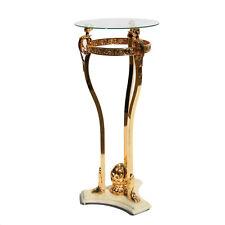 Beistelltisch Gold Glassäule Glasmöbel Kristall Glastisch Beistelltisch Gold