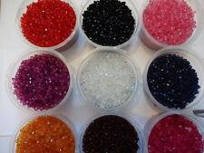 500 o 1000 buona qualità Sfaccettato acrilico Bicone Beads 4mm-VARI COLORI