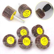 6mm Shank Sanding Flap Wheel Disc Abrasive Sanding Drill 16/30/40mm 60~320Grit