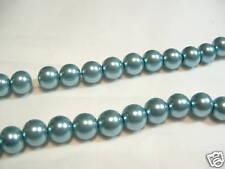 100+ PC X de cristal de perla redonda con cuentas de 8mm: #81A verde azulado pálido