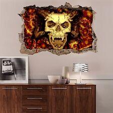 3D Flame Skull 309 Wall Murals Wall Stickers Decal Breakthrough AJ WALLPAPER AU