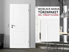 kuporta Weißlack Zimmertüren Landhaustür Narva Stiltür 3-11 Türenpaket mit Zarge