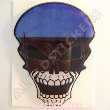 Sticker Flag Estonia Skull Adhesive Decal Resin Domed Car Moto Tablet 3D