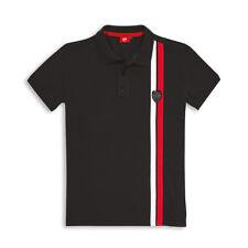 Ducati Shield Short-Sleeved Polo T-Shirt Top Shirt Black New 2018