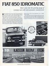 Fiat 850 idromatic 1968 mars, essai routier par road & track magazine nos
