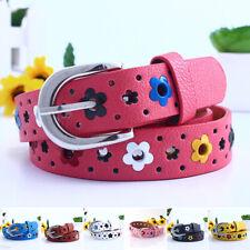 Fashion Casual Children Boys Girls PU-Leather Adjustable Waist Belts Waist Strap