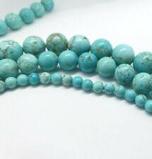 Turquoise Beads 12mm 8mm Round DIY Bracelet Jewellery Making Glitter Bead Stone