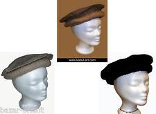 original Kopfbedeckung Pakol Mütze Afghanistan hat cap schwarz,Brauen und  Grau