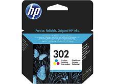 HP No 302 Tri Colour Original OEM Inkjet Cartridge F6U65AE
