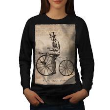 Man On Bicycle Women Sweatshirt NEW | Wellcoda