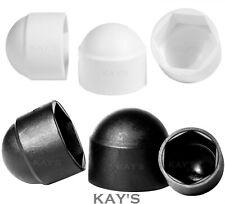 NUT AND BOLT COVER CAPS BLACK OR WHITE PLASTIC DOME CAP M5 M6 M8 M10 M12 M16 M20