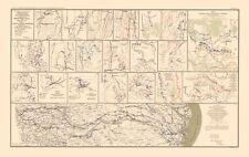 Civil War Map - Campaign Chattanooga to Atlanta to Savannah - 1895 - 23 x 36.55