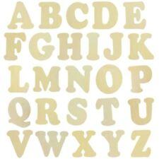 XL 11cm Natural Wood Flat Alphabets - Wooden Letters Craft Decoupage  Decoration