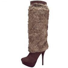 """Boots with Fur, 5.5"""" heel, 1.25"""" platform"""