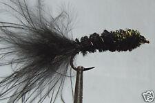 1 x Mouche peche Streamer Dognobbler Noir H8/10/12 larve fly fishing trout