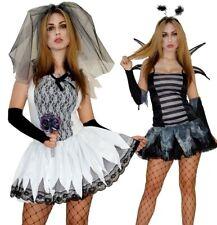 Halloween Kostüm Zombie Braut Fledermaus Damen Sexy Gr. S M