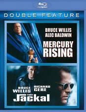 Mercury Rising/The Jackal (Blu-ray Disc, 2011, 3-Disc Set)  Bruce Willis  NEW