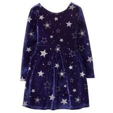 NWT Gymboree Winter Star Star Velour Dress Navy Blue Girls 5/6,7/8,14
