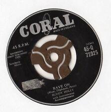 """Buddy Holly - Rave On 7"""" Single 1958"""