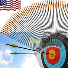 "Lots 33"" Archery Arrow Fiberglass Arrows Nocks Fletched Target Practice Hunting"
