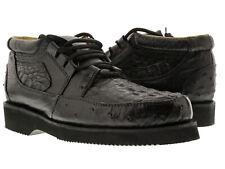 mens black genuine crocodile ostrich skin sneaker shoes boots western cowboy