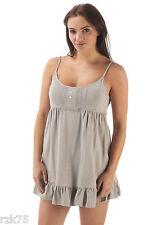 Ladies Parisienne Chemise Short Cami, Designer Nightwear, Size 8-20, Mink