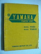 part list : YAMAHA YAS 1 / YAS 1 C de avril 1968