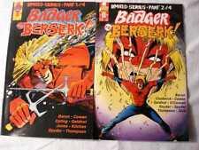 BADGER GOES BERSERK 4 ISSUE LIMITED SERIES FIRST PRINTING VF/NM