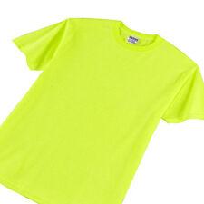 Safety Green Gildan 5000 Fluorescent Neon ANSI High Visibility T Shirt