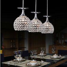 Modern Crystal Wineglass Glass Bar Led Lighting Ceiling Light Living Dining Lamp