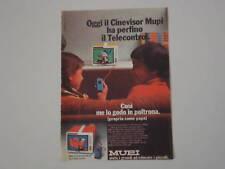 advertising Pubblicità 1977 CINEVISOR MUPI