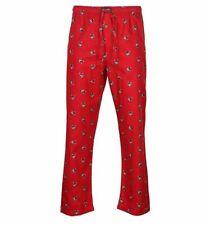 Polo Ralph Lauren Mens Polo Bear Flannel Sleep Pants Red Logos Lounge