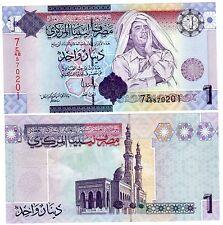 Libye Libya Billet 1 Dinar (2009) P71 GADAFFI SERIE 7 NEUF UNC