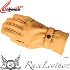 Weise Route beige moto rétro gants