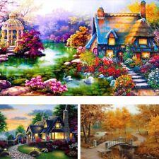 DIY 5D Diamond Embroidery Painting Landscape Dream Cottage Home Decor Craft AU