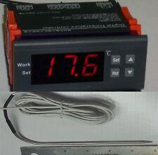 "Digital Temperature Controller Beer Brewing Thermostat Gauge & 6"" Sensor length"