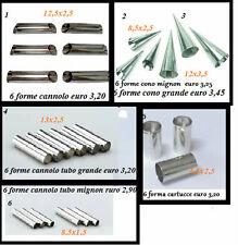 forme CANNOLO Cannoli mignon Coni CONO mignon stampo tubo CARTUCCIA
