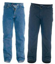 Mens King Big Duke Elasticated Waist Stretch Denim Jeans Black Blue Size 42 60