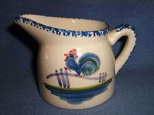 Vtg Blue White ROOSTER CREAM creamer LosAngeles Pottery
