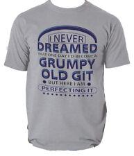 Perfezionare scontroso Old Git Divertente T Shirt da Uomo Regalo Di Natale Per Lui Dad Grandad