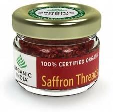 Organic India Saffron Threads Certified 100% Organic grade Saffron (2g) - F/SHIP