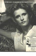 PUBLICITE   1970  PAYOT cosmétiques creme AMNIODERM