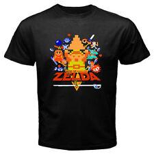 New The Legend of Zelda Retro 8 Bit Video Games Men's Black T-Shirt Size S-3XL
