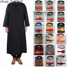Arab Men Thobe Abaya Robe Muslim Ramadan Clothed Islamic Eid Kaftan Daffan Jubba