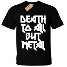 Muerte a todos pero Metal Camiseta para hombre de acero S-5XL Panther Rock Gótico alternativa