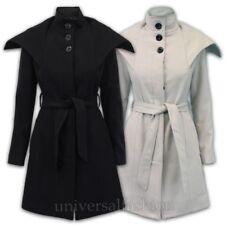 donna misto lana giacca da Celebrità Trench foderato CINTURA MODA INVERNO NUOVO