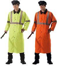 Reversible Reflective Rain Jacket Parka Safety Hi-Vis RainCoat RainJacket