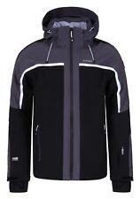 Icepeak NEVIO Herren Skijacke Outdoor Funktionsjacke in schwarz-grau