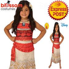 CK1212 Girls Deluxe Disney Princess Moana Movie Polynesia Cosplay Dress Costume
