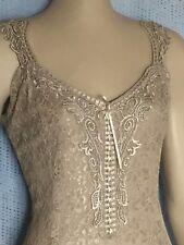 Tan Elegant Lace Casual, Beach, Western Wedding Attendant Dress, XL-XXXL